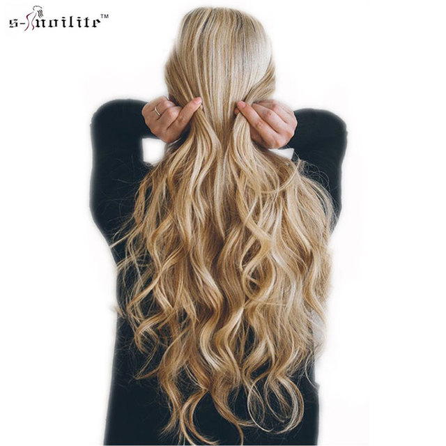 Snoilite 18 Clips In Hair Extensions Synthetic Hairpiece 24inch