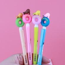 36 Pcs/lot Donut Bear Side Press Mechanical Pencil Cute Pencil Automatic Pen for Kid Gift School Office Supplies Escolar стоимость