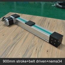 Бесплатная доставка Простота в эксплуатации шаговый двигатель 900 мм ход линейный привод для моторизованных xy таблицы