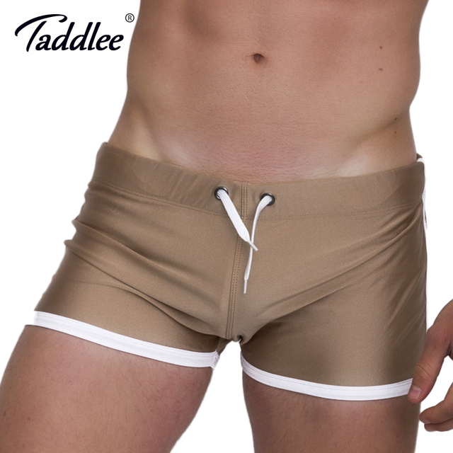 Taddlee Brand Men's Shorts Pockets Low Rise Short Pants New Summer 2017 Men Casual Boxers Trunks Gay Bottoms Activewear