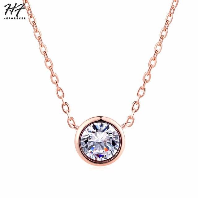 Round 1 carat Necklace 1