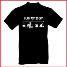 Plan für Heute T Shirt für Männer Fashion Street Stil Baumwolle Alle Größe 100% Qualität Baumwolle männer Druck 100% Baumwolle kleid T Shirt