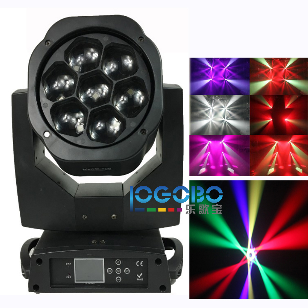 China Led Bee Eye Moving Head Beam Wash Gobo Effect 7x15W Mini B-Eye RGBW Led Moving Stage Light for Wedding Event Party Disco