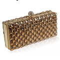 (You Sure Love ) Luxury Glass Diamond Evening Bags Bling Bling Classic Rhinestone gold Clutch bag wedding bridal purse  W47