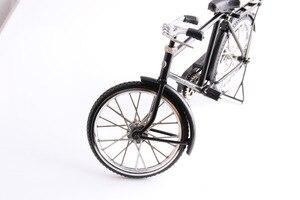 Image 4 - أسود معدن دراجة نموذج و البسيطة ولاعة محاكاة لعبة هدية الديكور نموذج