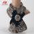 Natural Rex rabbit fur kintted bufanda invierno de las mujeres de piel real 2016 nuevo mantón de la llegada de año nuevo de la venta caliente del fashional y elegante