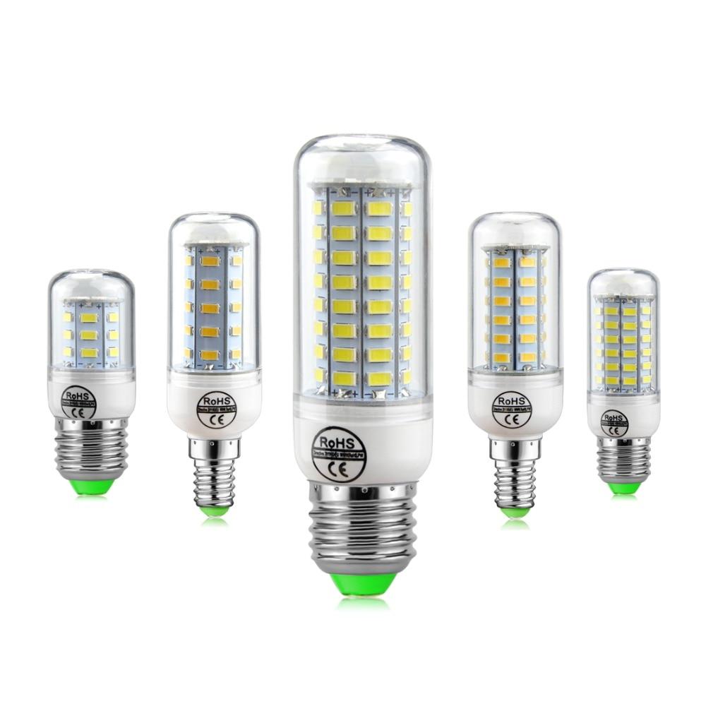 SMD5730 светодиодные лампы E27 E14 светодиодные лампы 220 В лампы кукурузы 24 36 48 56 69 72leds люстра свечи светодиодный свет для украшения дома Luminaria