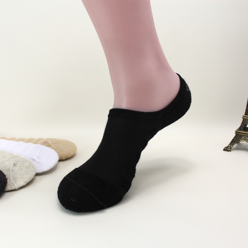 10Pairs Men cotton Invisible Socks Spring Summer Casual Non-slip  Boat Sock Male Shallow Mouth Socks towel bottom man sox
