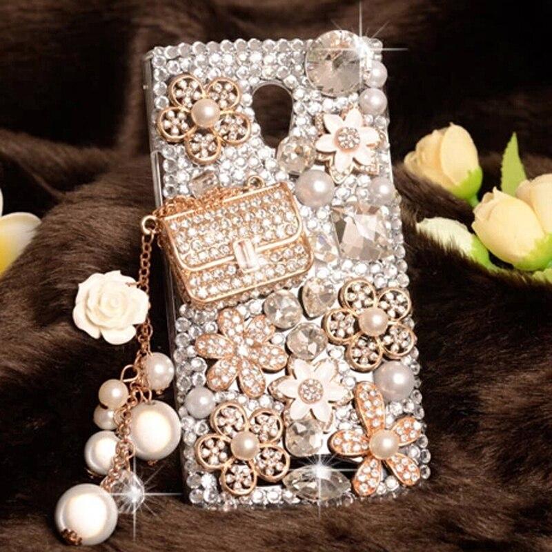 bilder für Luxus 3D Bling bling Strass Klar kunststoff handy Lächeln Fall für Huawei Y6 Pro fall für Huawei ehre 4C Pro Fällen