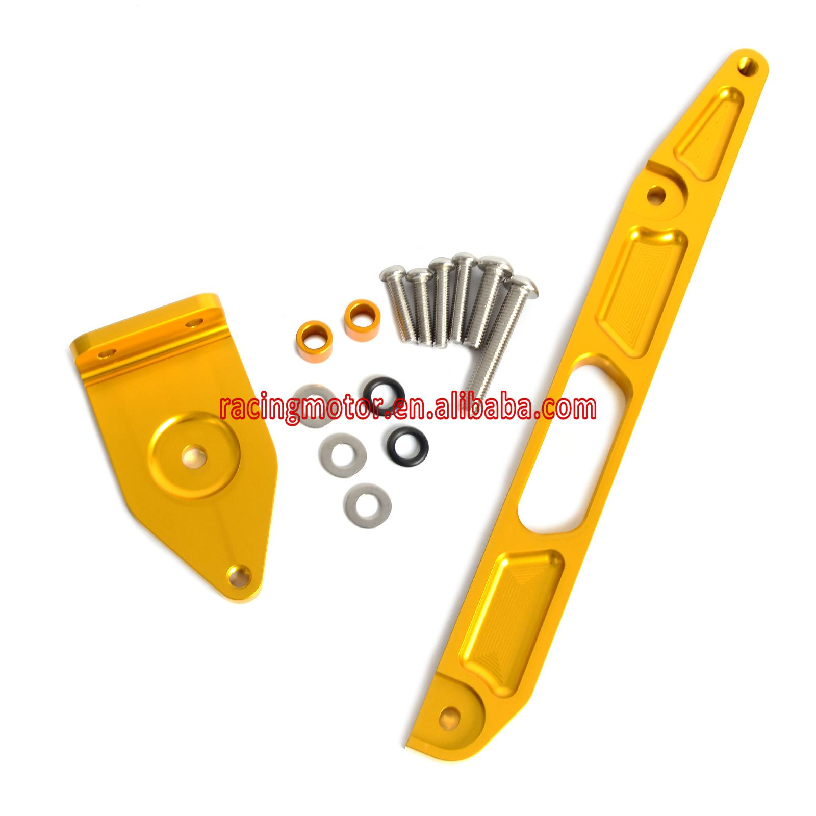 Gold CNC Mounting Kit Bracket for Yamaha XJR1300 2002 - 2015 2004 2005 2006 2008 2010 2013 2014 motorcycle mounting bracket kit for yamaha fz1 fazer 2006 2015 2007 2008 2009 2010 2011 2012 2013 2014