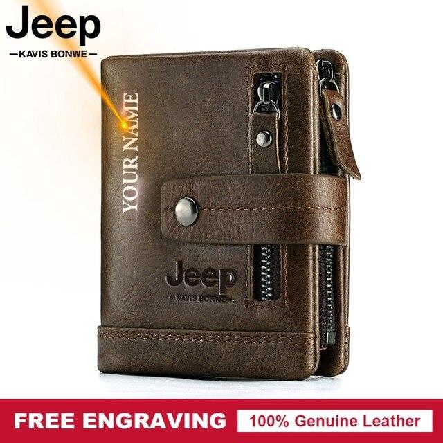 แกะสลักฟรี100% ของแท้หนังผู้ชายกระเป๋าสตางค์กระเป๋าสตางค์ขนาดเล็กPORTFOLIO PortemonneeชายWaletกระเป๋ากาแฟเงิน