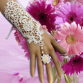 1pcs  fashion white lace flower bracelet  set bride wedding accessories