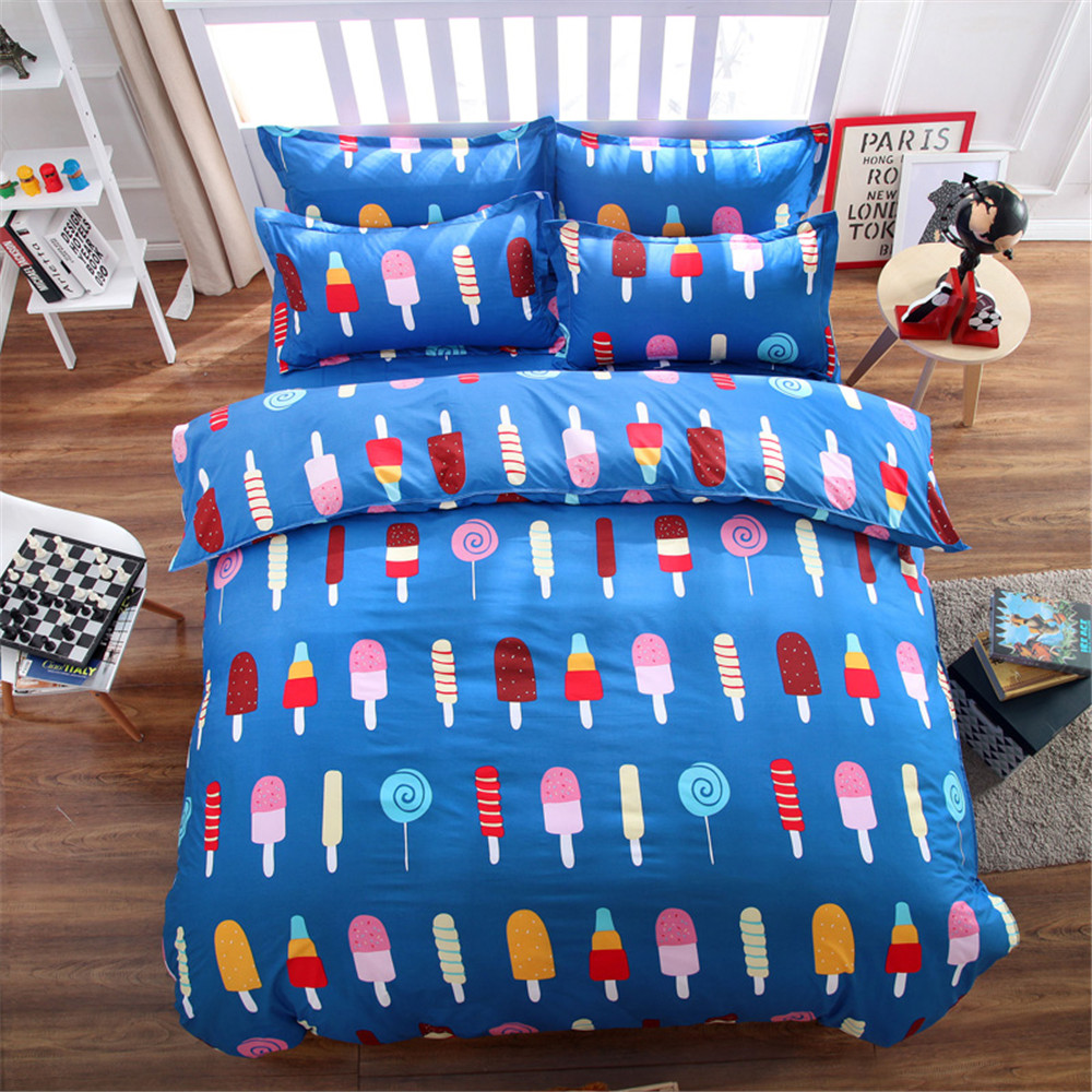 Icecream colorful bedding bed sets queen king twin kids 4 5 pcs quilt comforter duvet