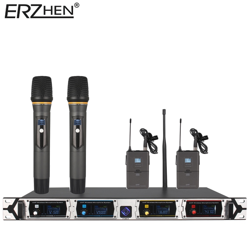 Wireless microphone system 8000GT3professional UHF channels dynamic microphone professional 4 karaoke microphone latest concep