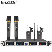 8000GT3professional canales UHF sistema de micrófono inalámbrico micrófono de karaoke micrófono dinámico profesional 4 + últimas concep