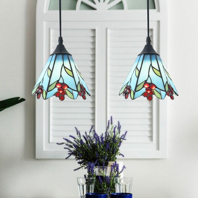Здесь продается  American three chandeliers glass Mediterranean restaurant creative dining room warm pastoral chandeliers CL DF73  Свет и освещение
