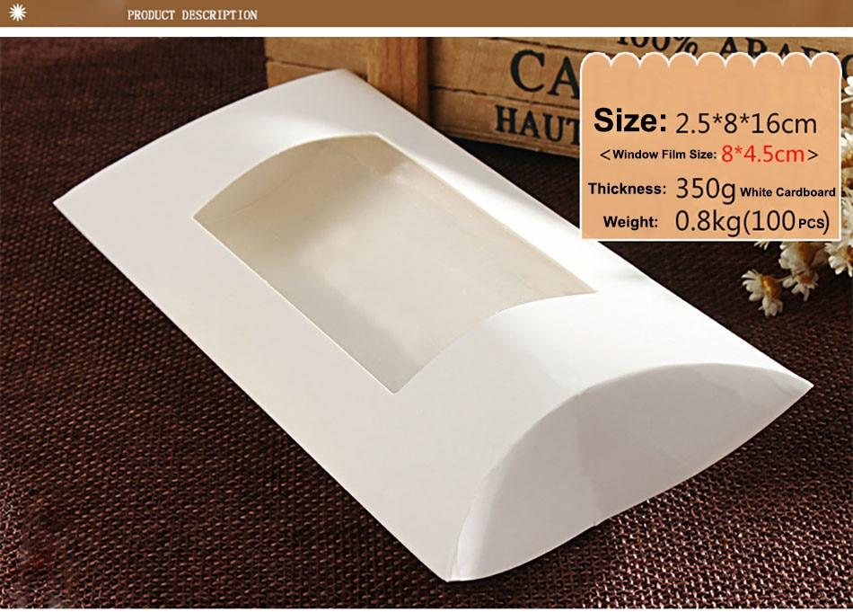 Kussen Wit 16 : Groothandel 100 stks 2.5*8*16 cm wit kussen raam doos verpakking