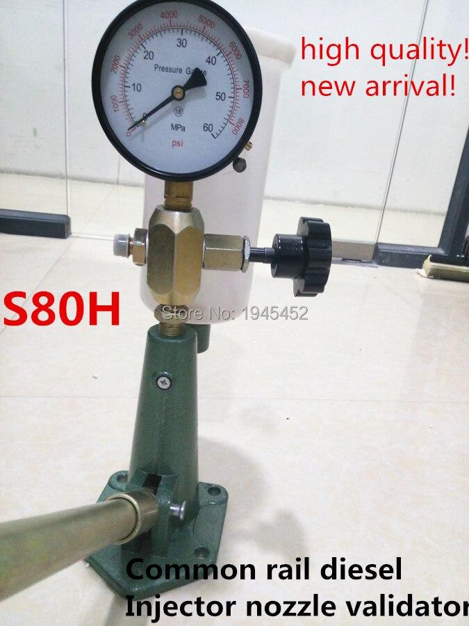 Openhartig Gratis Verzending! S80hcommon Rail Diesel Injector Nozzle Validator Vulpistool Injector Tester, Handleiding Diesel Booster Pomp