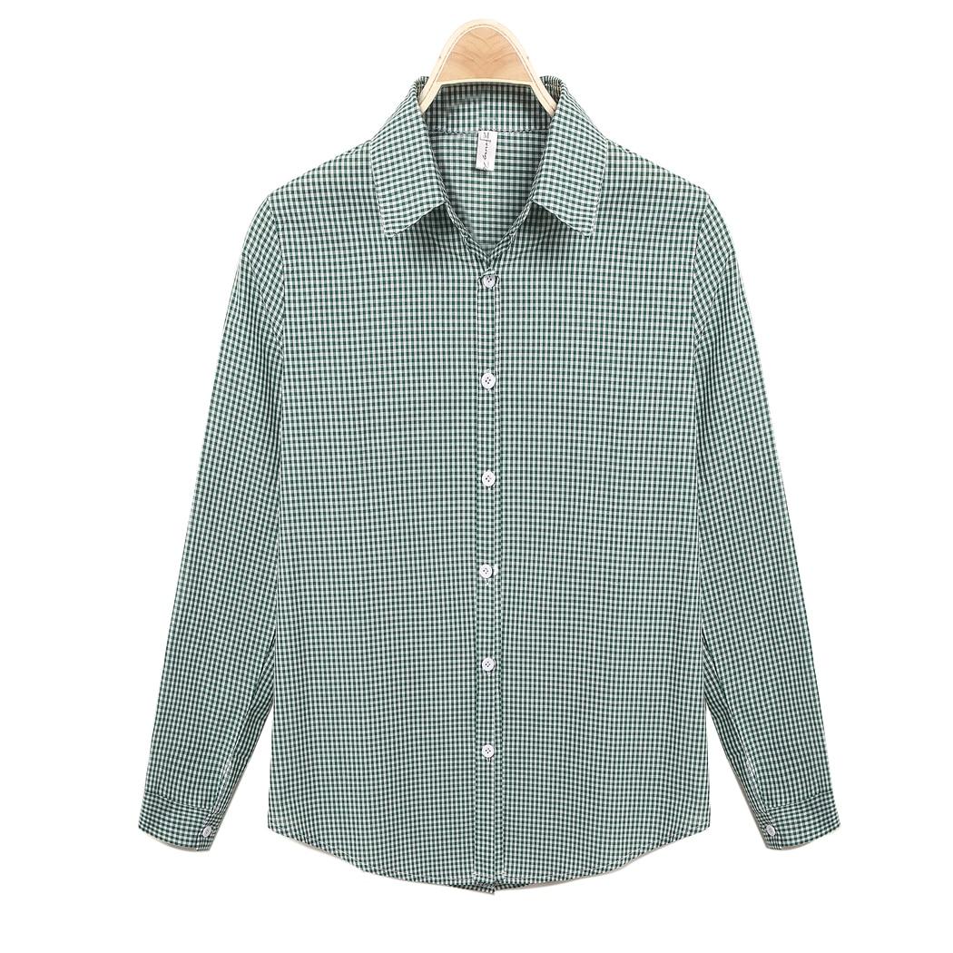 FANALA Women Shirt 2017 New Fashion Green Long shirts Turn Down Collar Plaid  Loose Casual Blouse - Online Get Cheap Green Plaid Shirt Womens -Aliexpress.com
