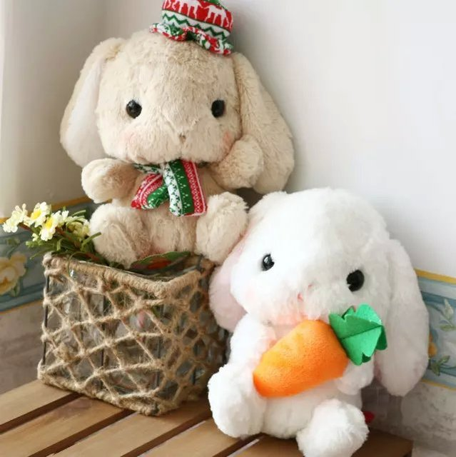 Супер мило мягкий плюш каваи длинные уши кролик бамбуковый уголь пакета игрушки куклы, Мода семья / автомобиль декор подарок на день рождения