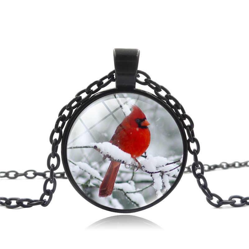 2018 ใหม่สีแดง cardinal locket สร้อยคอแฟชั่นนกจี้สร้อยคอผู้หญิงงานแต่งงานเจ้าบ่าวที่ดีที่สุดของขวัญเครื่องประดับ drop shipping