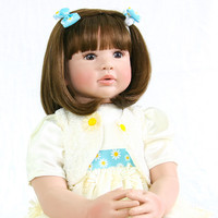 Limited Collection 24 Inch Reborn Doll Girl 60 cm Silicone Soft Vinyl Realistic Baby Dolls For Sale Kid Birthday Christmas Gift