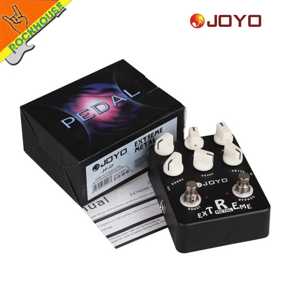 JOYO JF 17 Extreme Metal Distortion Guitar Effects Pedal high gain Heavy Metal Guitar Pedal Stompbox 3 Bands EQ True Bypass JF35 in Guitar Parts Accessories from Sports Entertainment
