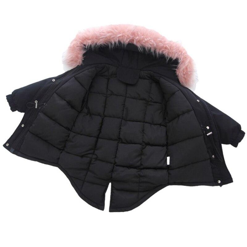 цена на Fashion Girls Winter Coats Princess Girls Faux Fur Collar Long Jacket Girl Warm Christmas Parkas Cotton-padded Outerwear & Coats