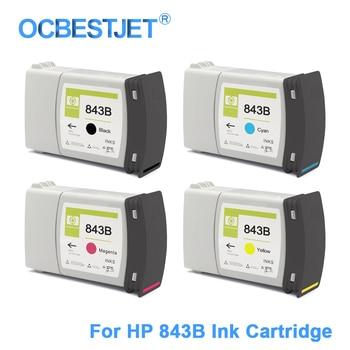 [Сторонний бренд] 4 шт./компл. для HP 843 843B сменный чернильный картридж для HP PageWide XL 4000 4500 5000 5100 400 мл/уп.