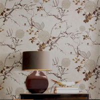 Classical Ink Flowers And Birds Wallpaper American Bedroom Study Living Room TV Background Wallpaper Non Woven