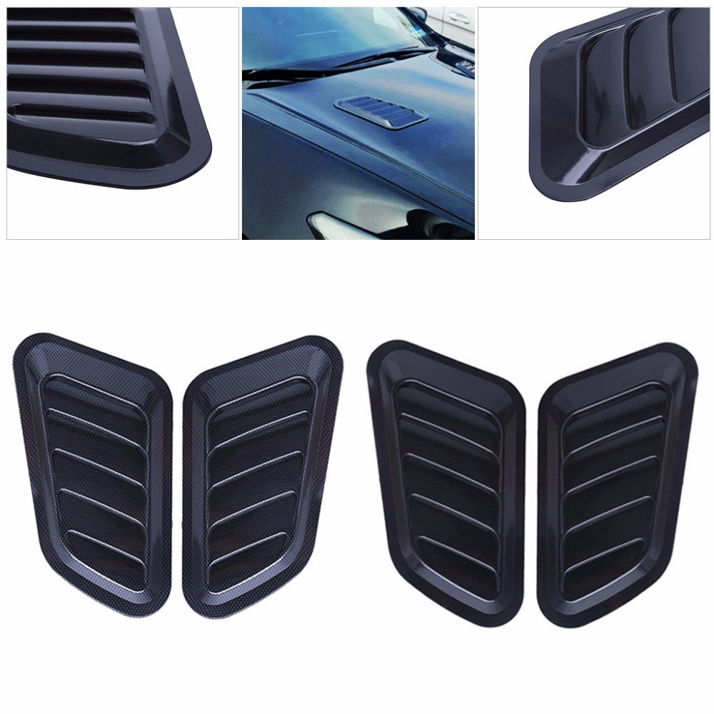 Universal Car Styling Sticker ABS Decorative Air Flow Intake Bonnet Vent Cover Hood Air Flow Fender C45 O05
