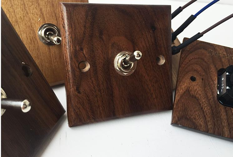 Wood Retro   Wall  Switch Wooden one Control  Two  Way   6A  110V- 250V 118 style elegant white light switch four control two way 10a 110v 250v