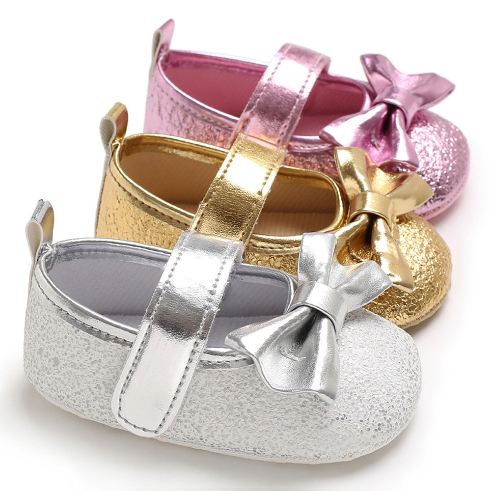 Autumn Glitter Sequins Soft Sole Baby Girl Shoes Anti slip ...