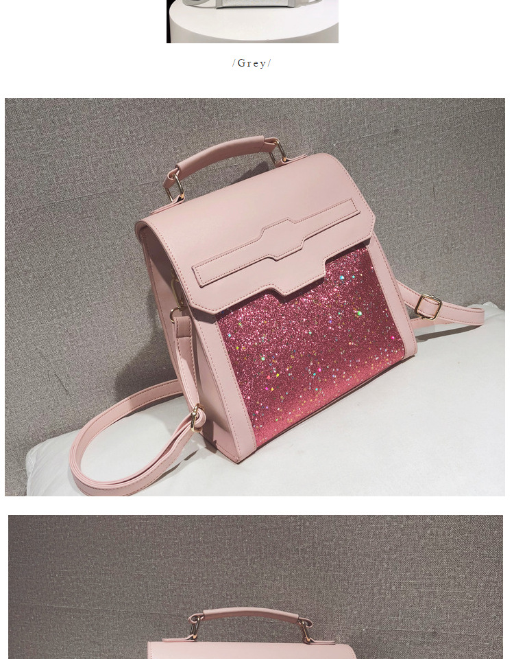 Luggage & Bags New Fashion Sunny Shop Fashion Stylish Bling Bling Women Backpack 2018 Small Pu Leather Rucksack Korean Backpacks For Teenage Girls Pink Bag Attractive Appearance