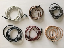 shining round PU leather spectacle cord sunglass string