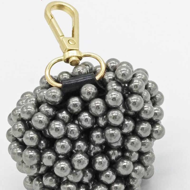 Chaveiro magnético ao ar livre caça tiro chaveiro pingente decoração slingshot bola de aço portátil poderosa sucção ímã chave