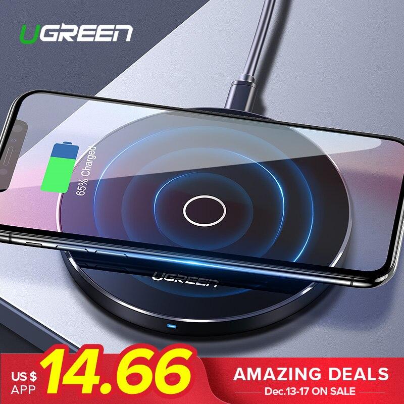 Ugreen Carregador Sem Fio para o iphone X 8 XS 10 w USB de Carregamento Sem Fio para Samsung Galaxy S8 S9 S7 Borda qi Carregador Sem Fio USB