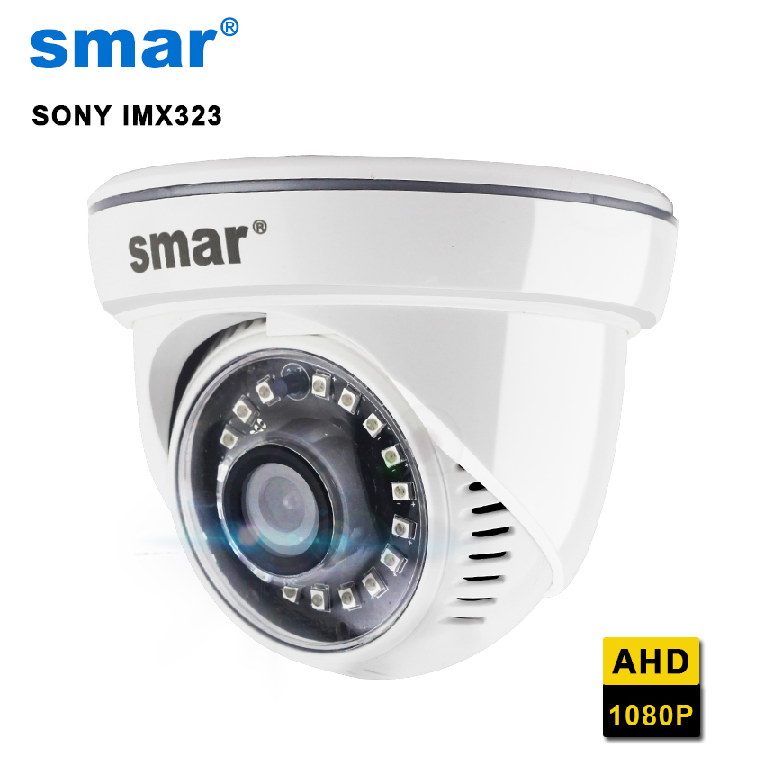 Smar Sony IMX323 CMOS 18 Nano IR LEDS HD 1080P AHD Camera Dome Surveillance Camera IR Cut Filter With Work AHDH/AHDNH AHD DVR