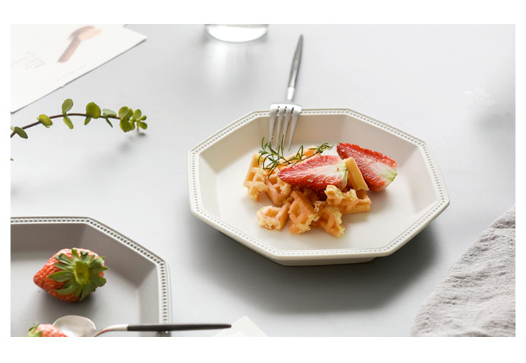 1PC Ceramic Steak Dish Fruit Dessert Plate Western-style Food Steak Plate dishes and plates sets snack dish OK 0890