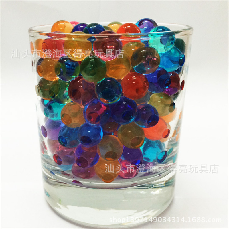 100,000 Pcs Water Gun Bullet Multi Color Soft Crystal Water Paintball Bullet Orbeez Gun Toy Bibulou Air Pisol For Toy Gun