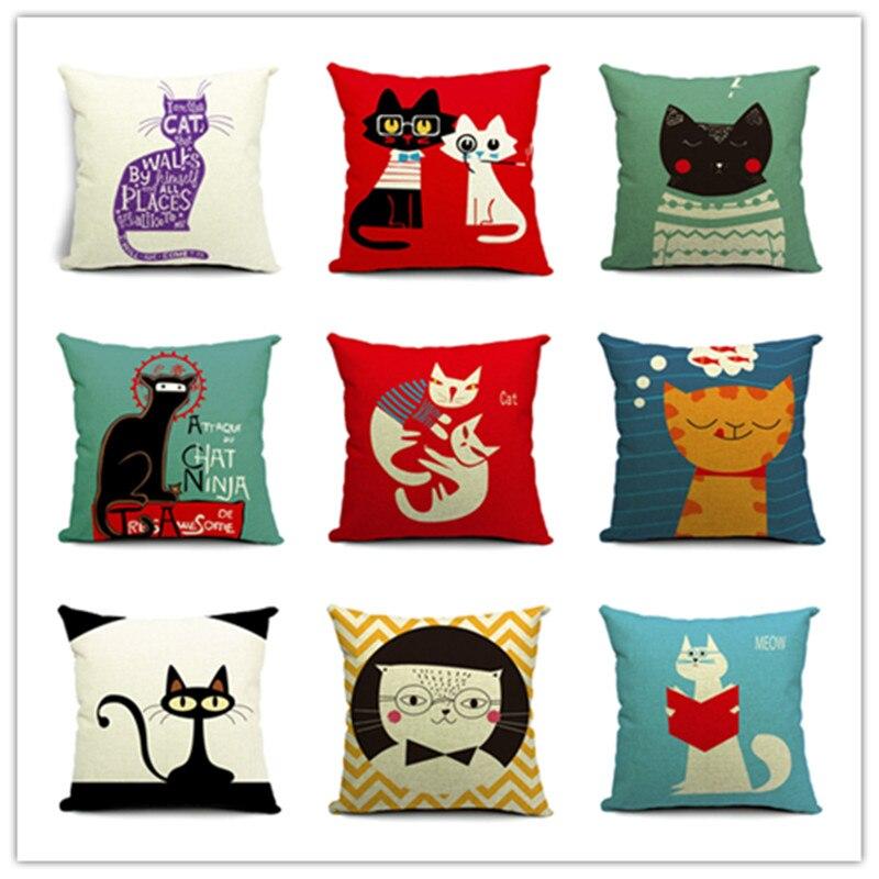 Hot sale cartoon style cotton linen cushions lovely little for Home decor sale sites