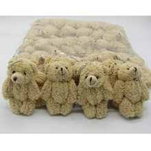 50PCS/LOT Kawaii Small Joint Teddy Bears Stuffed Plush With Chain 12CM Toy Teddy-Bear Mini Bear Ted Bears Plush Toys Gifts 08902