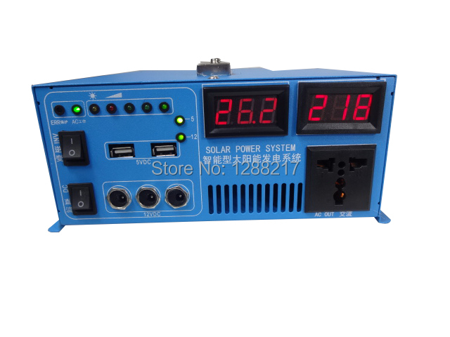 Pure Sine Wave Inverter 300W 12V24V 10A20A Hybrid Inverter Built-in Solar Charge Controller with Output 5V usb, 12v dc, 220VAC