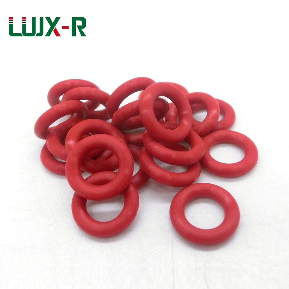 LUJX-R O Ring Seal 5mm Red Silicone Gasket Sealing OD15/17/18/19/20/23/25/26/27mm VMQ Orings O-Ring Washer Wear reference Rings silicon vmq o ring o ring red 19x1 and 20x1