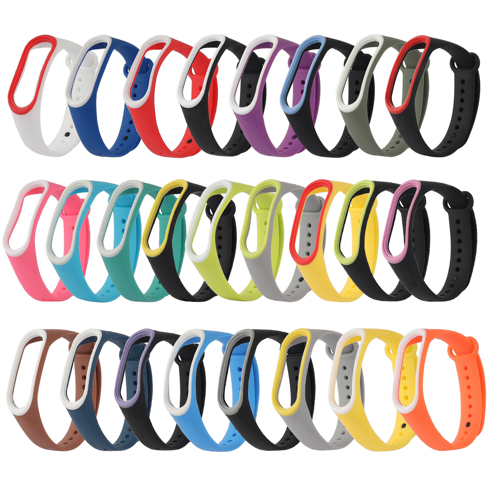 Double Color Mi Band 3 Strap Anti-Lost Silicone Wriststrap Accessorie Replacement Sport Wrist For Xiaomi Miband 3 Smart Bracelet