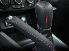 2 шт. для Suzuki Vitara Шестерни рукавом ручной тормоз крышки первый слой из натуральной кожи