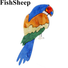 FishSheep New Colorful Acrylic Parrot Brooches For Women Big Lovely Animal Birds Lapel Pins Fashion Handmade Brooch Jewelry Gift fishsheep large women figure acrylic brooches and pins fashion resin girl icon big brooch pins female fashion jewelry accessory