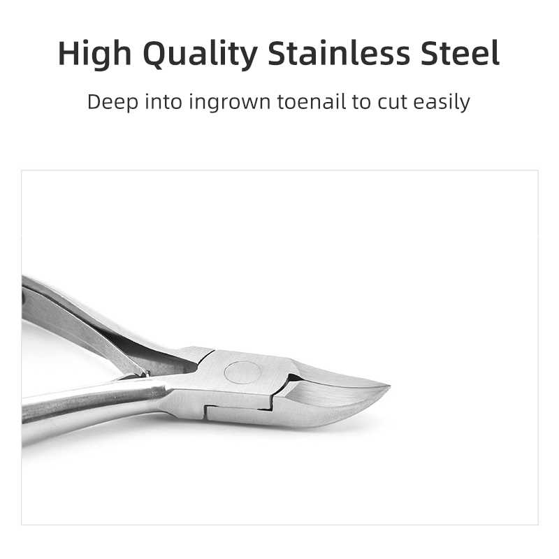 XYj Ingrown Toe Nail Clipper Stainless Steel Thick Toenail Nipper Finger Dead Cuticle Scissors Pro Paronychia Chiropody Podiatry