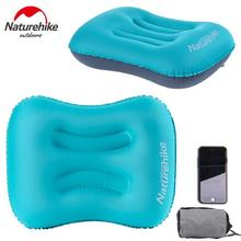 NatureHike Portable Folding Inflatable Air Cushion U Shape Neck Travel Airplane Pillow Outdoor Camping Pillow