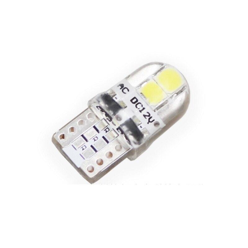 500X 高品質のシリコン Led ライト T10 COB LED W5W 8 チップ 147 168 ウェッジドア音源電球ランプ DC 12 ボルト送料無料  グループ上の 自動車 &バイク からの 車のヘッドライトの球 (LED) の中 1